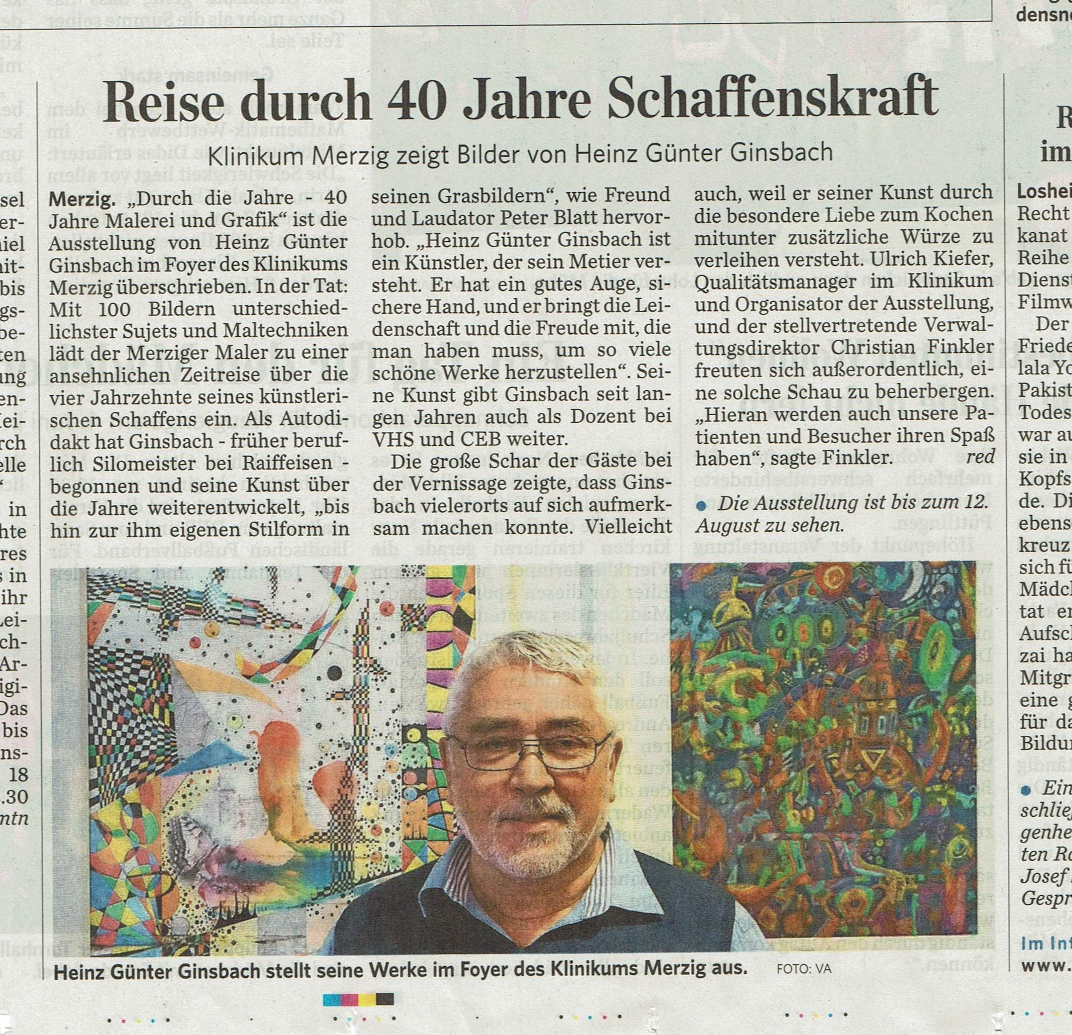 Saarbrücker Zeitung 23.Mai 2016